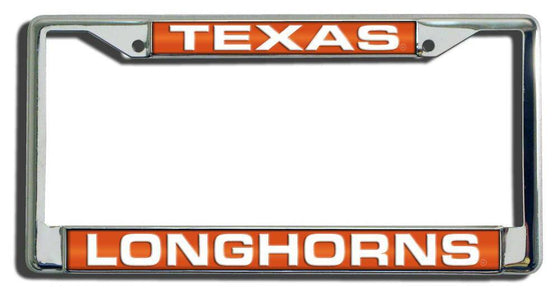 Texas Longhorns Laser Cut Chrome License Plate Frame (CDG)