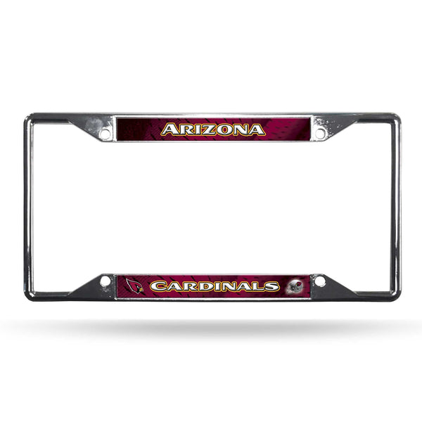 Arizona Cardinals License Plate Frame Chrome EZ View (CDG)