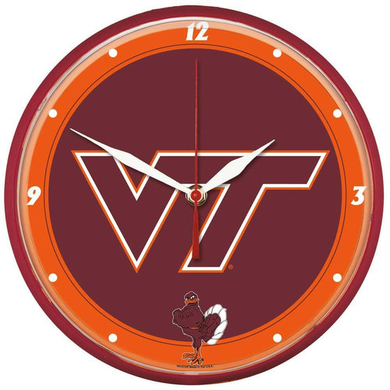 NCAA Virginia Tech Hokies 12.75 Inch Round Wall Clock - 757 Sports Collectibles