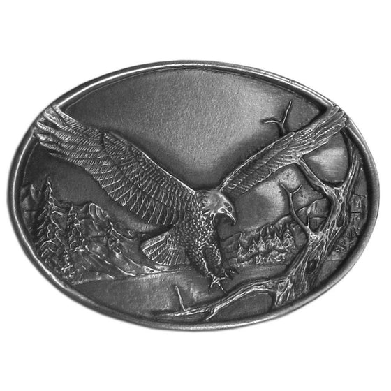 Small Eagle Antiqued Belt Buckle (SSKG) - 757 Sports Collectibles