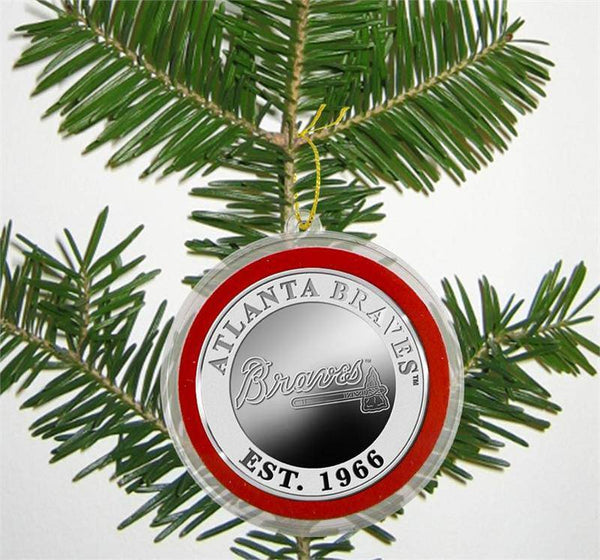 Atlanta Braves Silver Coin Ornament (HM)