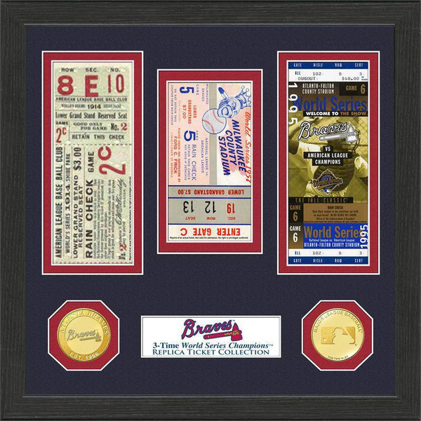 Atlanta Braves World Series Ticket Collection (HM)