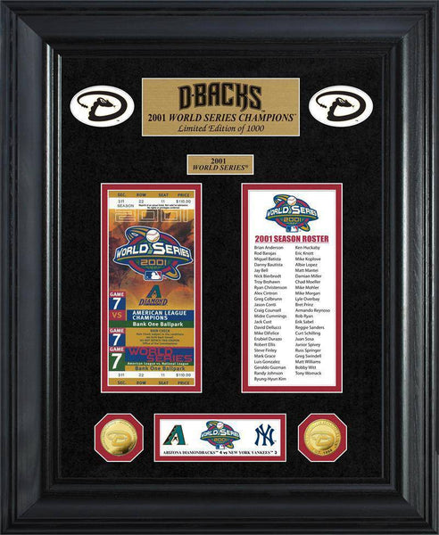 Arizona Diamondbacks World Series Deluxe Gold Coin & Ticket Collection (HM)