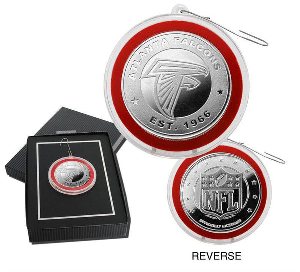 Atlanta Falcons Silver Coin Ornament (HM)