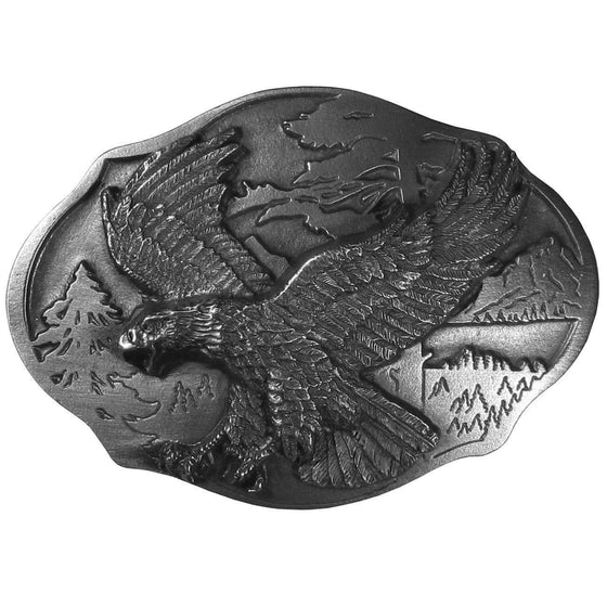 Flying Eagle  Antiqued Belt Buckle (SSKG) - 757 Sports Collectibles