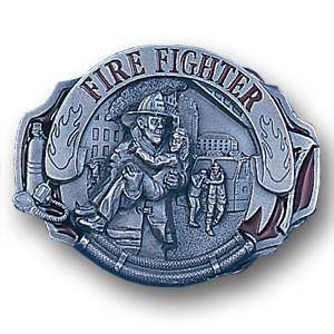 Fire Fighter   Enameled Belt Buckle (SSKG) - 757 Sports Collectibles