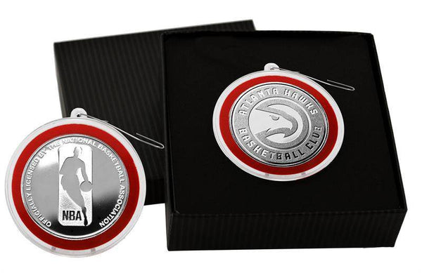 Atlanta Hawks Silver Mint Coin Ornament (HM)