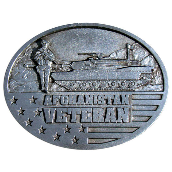 Afghanistan Veteran Enameled Belt Buckle (SSKG) - 757 Sports Collectibles