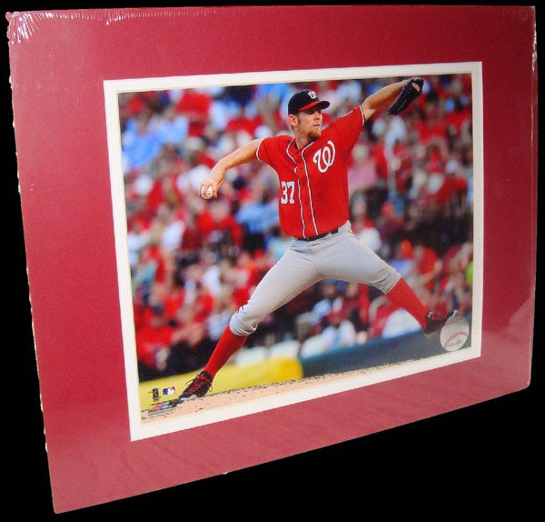 Stephen Strasburg Washington Nationals Red Matted 8x10 Photo Picture Poster Print