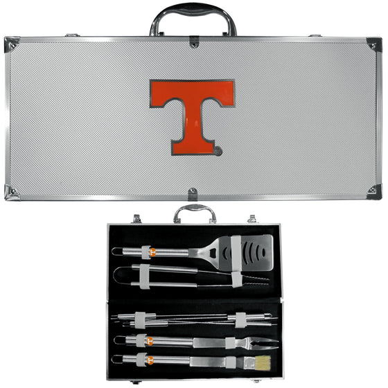 Tennessee Volunteers 8 pc Stainless Steel BBQ Set w/Metal Case (SSKG) - 757 Sports Collectibles