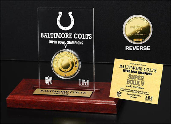 Baltimore Colts SB Champs Etched Acrylic (HM)