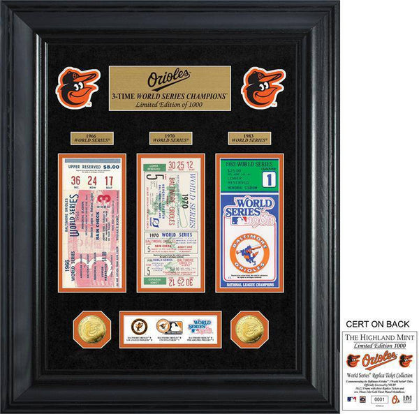 Baltimore Orioles World Series Deluxe Gold Coin & Ticket Collection (HM)