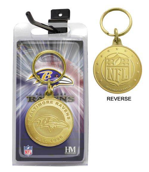 Baltimore Ravens Bronze Bullion Keychain (HM)