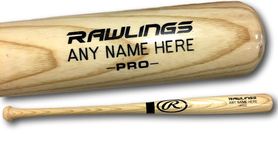 "Rawlings Custom Engraved Adirondack Adult Ash Wood Blonde Baseball Bat (34"") Large Barrel"
