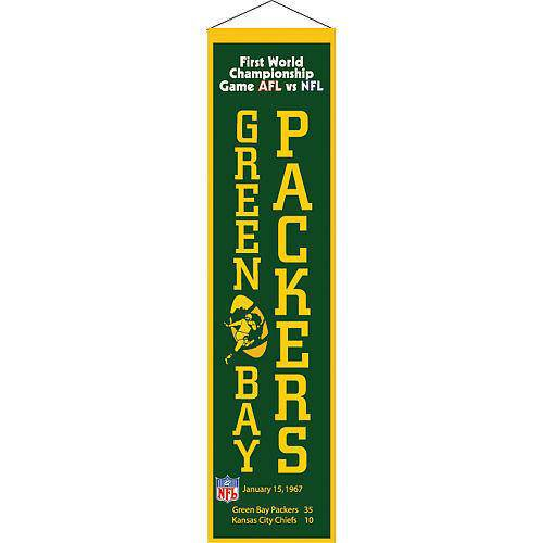 "Green Bay Packers Heritage Banner Super Bowl I 1 Embroidered Wool 8""x32"""