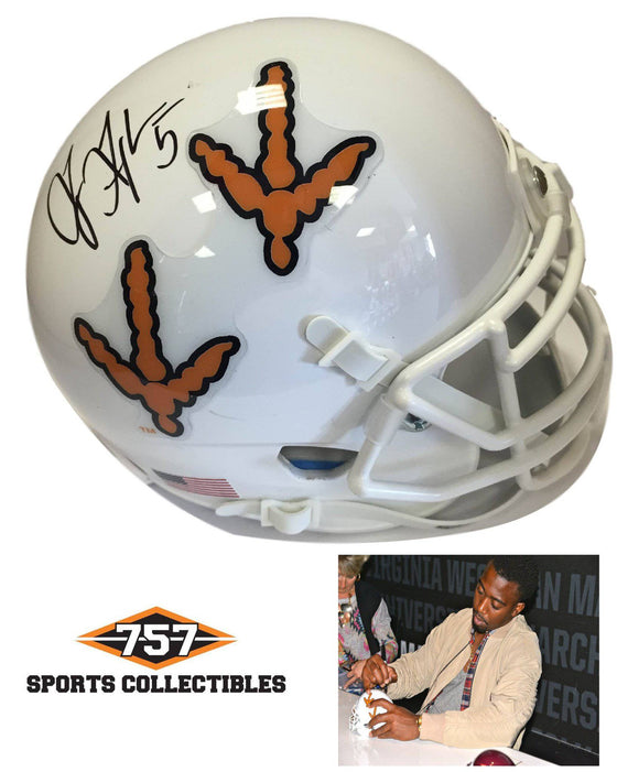 NCAA Tyrod Taylor Virginia Tech Hokies Signed Auto Turkey Tracks Mini Helmet ( JSA PSA Pass) 757
