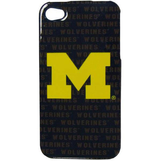 Michigan Wolverines iPhone 4/4S Graphics Snap on Case (SSKG) - 757 Sports Collectibles