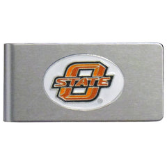 Oklahoma State Cowboys Brushed Metal Money Clip (SSKG)