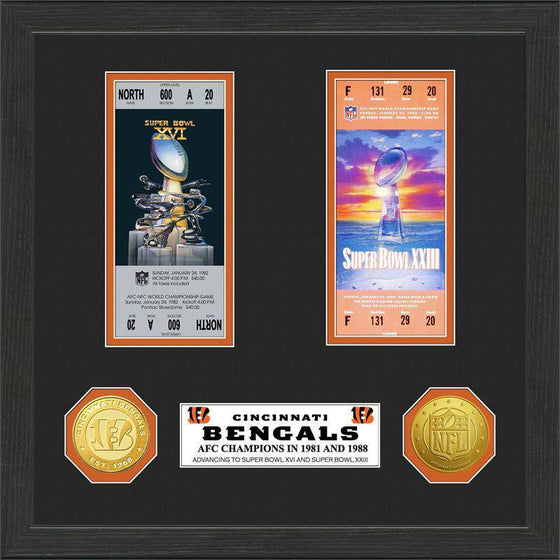Cincinnati Bengals SB Championship Ticket Collection (HM) - 757 Sports Collectibles