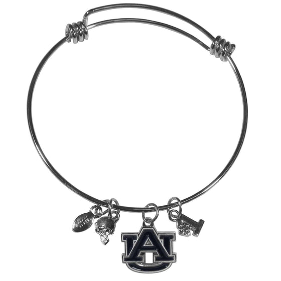 Auburn Tigers Charm Bangle Bracelet (SSKG)