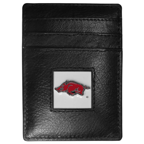 Arkansas Razorbacks Leather Money Clip/Cardholder (SSKG)
