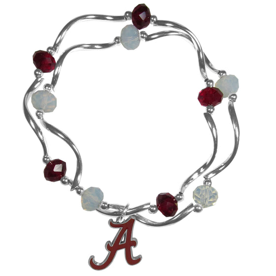 Alabama Crimson Tide Crystal Bead Bracelet (SSKG)