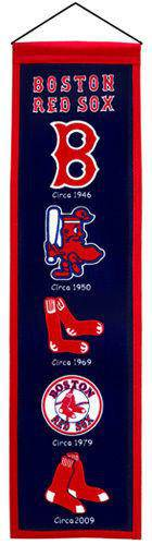 "Boston Red Sox Heritage Banner 8""x32"" Wool Embroidered - 757 Sports Collectibles"