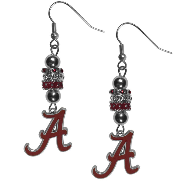 Alabama Crimson Tide Euro Bead Earrings (SSKG)