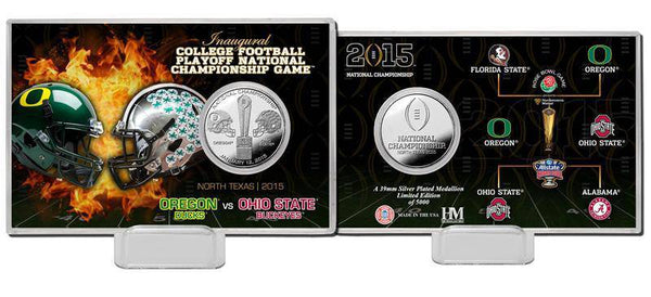 2015 College Football National Championship Silver Coin Card  (HM)