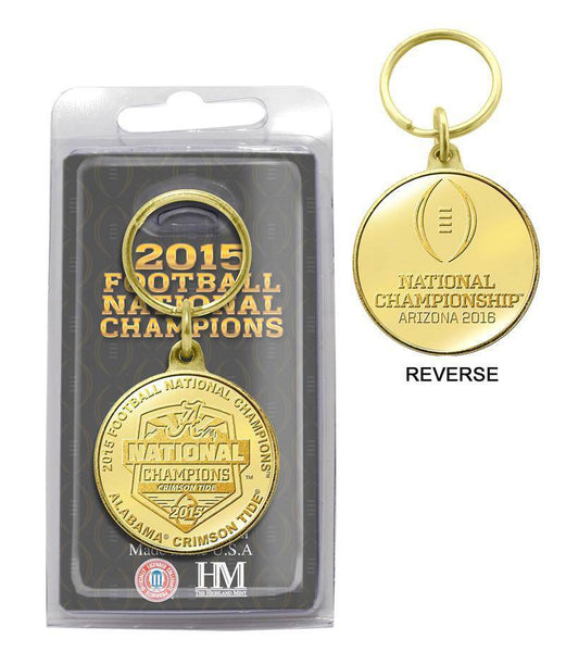 Alabama Crimson Tide 2015 College Football National Champions Bronze Coin Keychain (HM)