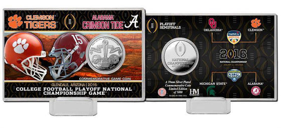 2016 College Football National Championship Game Silver Coin Card  (HM)