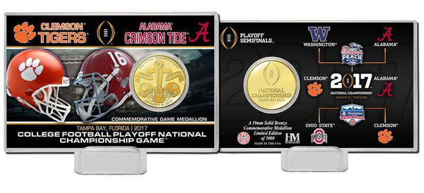 2017 College Football National Championship Dueling Bronze Coin Card (HM)