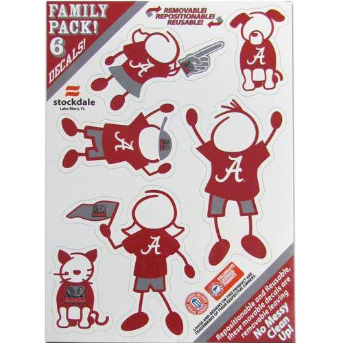 Alabama Crimson Tide Family Decal Set Small (SSKG)