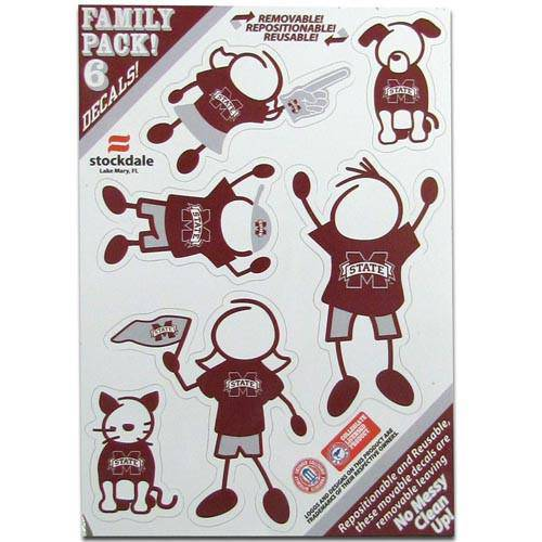 Mississippi St. Bulldogs Family Decal Set Small (SSKG)