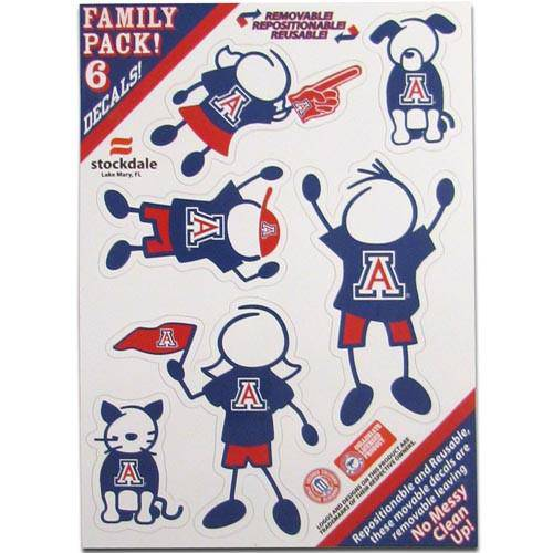 Arizona Wildcats Family Decal Set Small (SSKG)