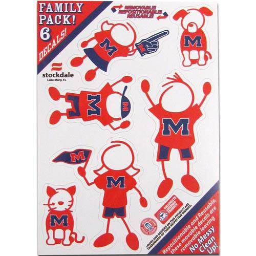 Mississippi Rebels Family Decal Set Small (SSKG)