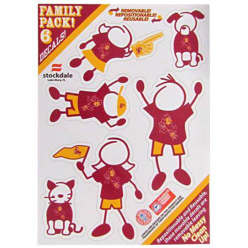 Arizona St. Sun Devils Family Decal Set Small (SSKG)