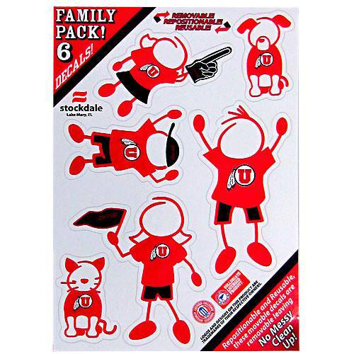 Utah Utes Family Decal Set Small (SSKG) - 757 Sports Collectibles