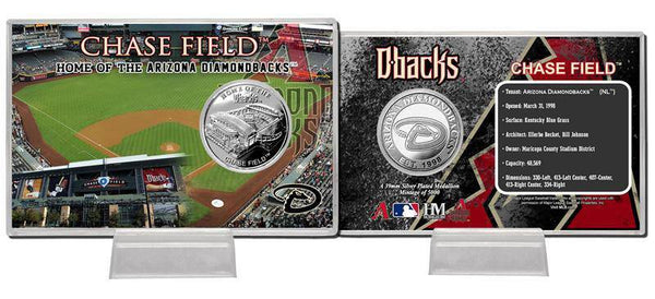 Arizona Diamondbacks Chase Field Silver Coin Card (HM)