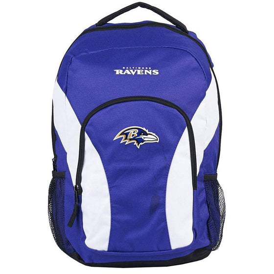 NFL Baltimore Ravens Team Logo Draft Day Backpack - 757 Sports Collectibles