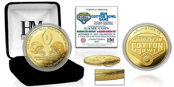 2106 CFP 2016 CFP Semi Final Cotton Bowl Gold Game Coin (HM)
