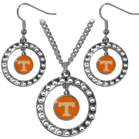 Tennessee Volunteers Rhinestone Hoop Jewelry Set (SSKG)