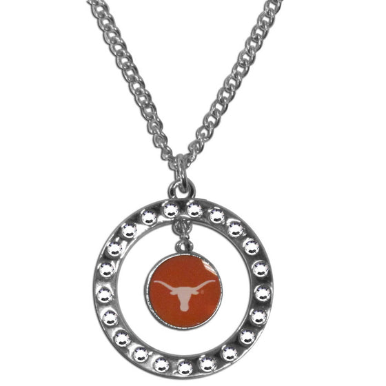 Texas Longhorns Rhinestone Hoop Necklace (SSKG)