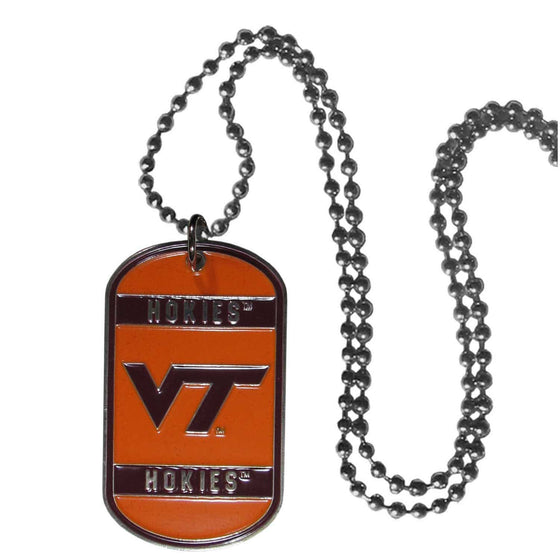 Virginia Tech Hokies Engraveable Dog Tag Necklace