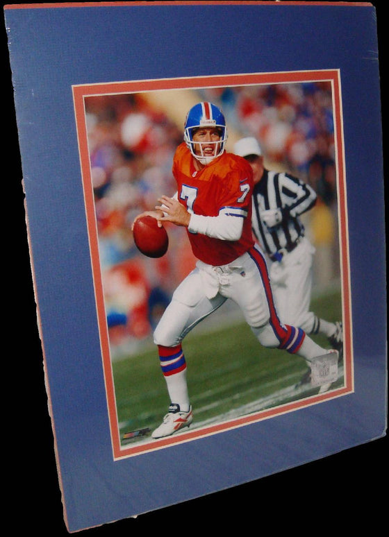 John Elway Denver Broncos Throwback Matted 8x10 Photo Picture Poster Print