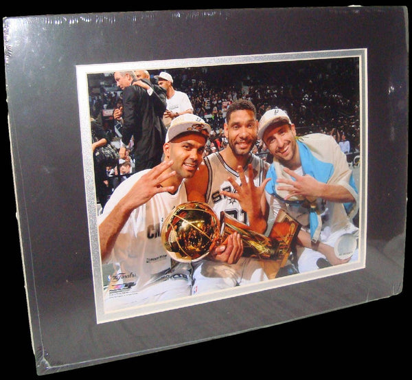 Spurs Big Three Tim Duncan Manu Ginobili Tony Parker Matted 8x10 Photo Picture Poster Print