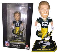 "Green Bay Packers Clay Matthews Nation 8"" Limited Edition Bobblehead Statue Figure"