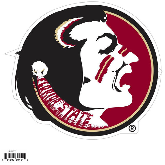 NCAA Florida State FSU Seminoles Indoor/Outdoor Perfect Cut 8 inch Logo Magnet