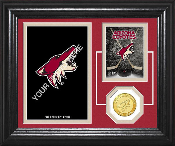 "Arizona Coyotes ""Fan Memories"" Bronze Coin Desktop Photo Mint (HM)"