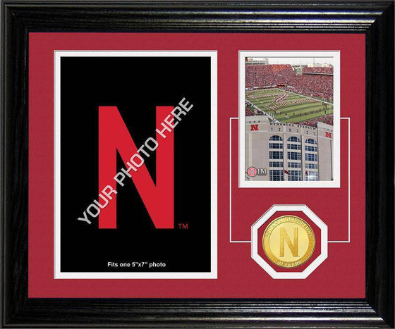 "Nebraska Cornhuskers University of Nebraska ""Fan Memories"" Bronze Coin Desk Top Photo Mint (HM) - 757 Sports Collectibles"